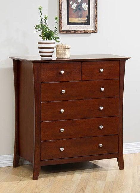 Vermont 6 Drawer Chestnut Dresser Free Shipping Today
