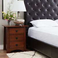 Copper Grove Milton Chestnut Three-drawer Nightstand