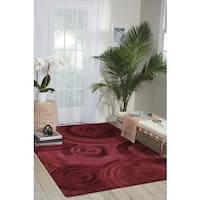 kathy ireland Palisades Architectural Ovation Plum Area Rug by Nourison - 5' x 7'6