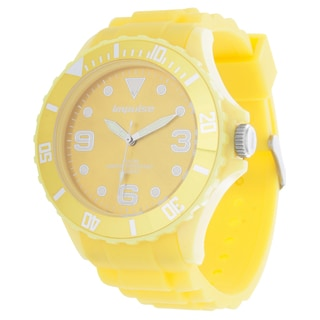 Impulse by Steinhausen Mens Poseidon Silicone Diver Yellow/ Yellow Quartz Watch