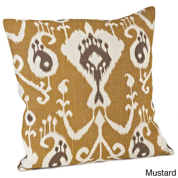 Ikat Design Jute 20 x 20-inch Throw Pillow