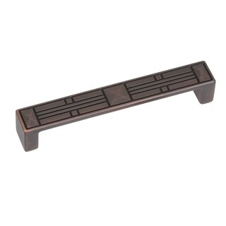 GlideRite 5-inch CC Craftsman Series Oil Brushed Bronze Cabinet Pulls (Case of 25)