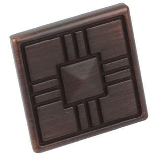 GlideRite 1.25-inch Craftsman Series Oil Rubbed Bronze Square Cabinet Knobs (Case of 25)