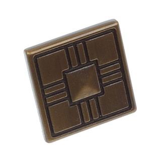 GlideRite 1.25-inch Craftsman Series Antique Brass Square Cabinet Knobs (Case of 25)