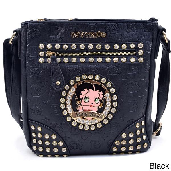 Etched Monogram Betty Boop Messenger Bag