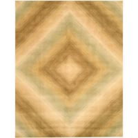 Hand-tufted Wool Ivory Contemporary Abstract Tufetd Sands Rug - 7'9 x 9'9