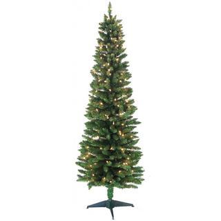 6-foot 320-tip Pre-lit Pencil Green Tree