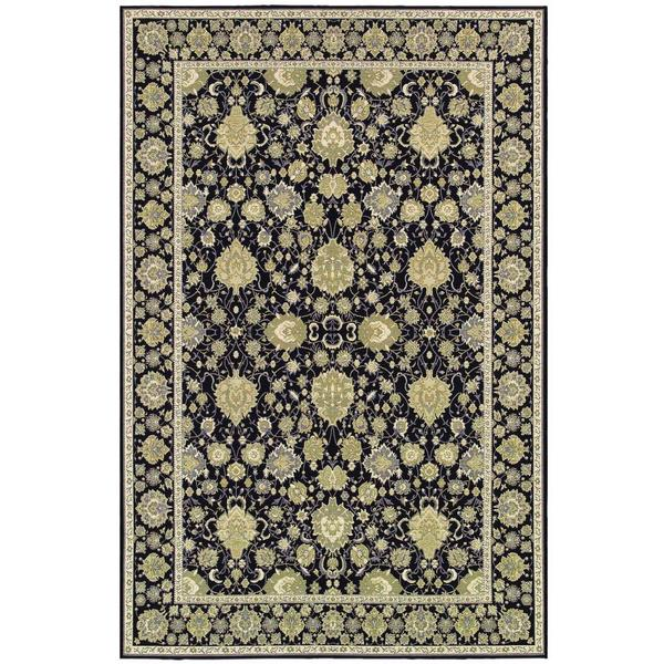 Dolce Pompano Black-Beige Indoor/Outdoor Area Rug - 8'1 x 11'2