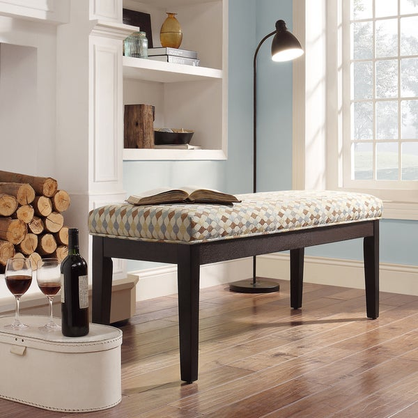 INSPIRE Q Chelsea Geometric Fabric Cushioned 52-inch Bench