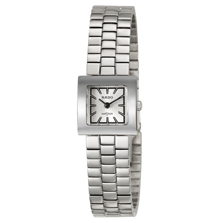 Rado Women's 'Diastar' Stainless Steel Quartz Watch, Silv...