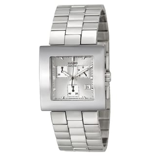 Rado Women's 'Diastar Chronograph' Stainless Steel Silver-tone Chronograph Watch