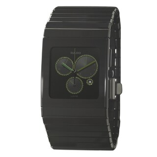 Rado Men's 'Ceramica Chronograph' Ceramic Watch with Green Hands|https://ak1.ostkcdn.com/images/products/8481592/Rado-Mens-Ceramica-Chronograph-Ceramic-Watch-with-Green-Hands-P15770091.jpg?_ostk_perf_=percv&impolicy=medium