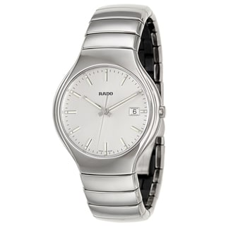 Rado Men's 'Rado True' Silver Ceramic Quartz Watch