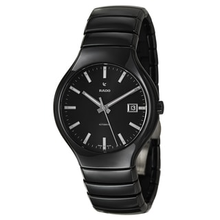 Rado Men's 'Rado True' Black Ceramic Automatic Watch