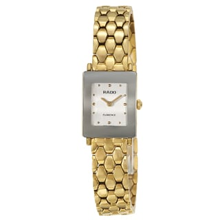 Rado Women's 'Florence' Yellow/ Goldtone PVD Coated Quartz Watch