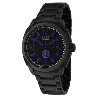 ESQ by Movado Men's 'Excel' Black Ion Plated Stainless Steel Watch