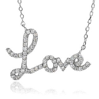 Journee Collection Cubic Zirconia Love Necklace