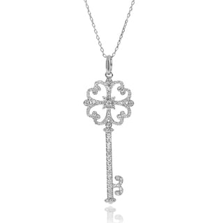Journee Collection Cubic Zirconia Key Necklace
