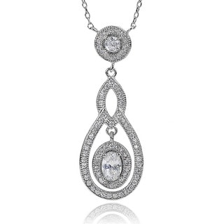 Journee Collection Cubic Zirconia Dangle Necklace