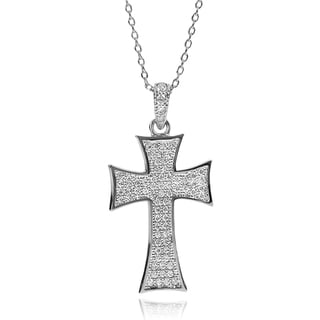 Journee Collection Cubic Zirconia Cross Necklace