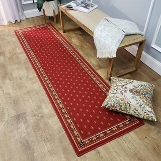 French Border Red Runner Rug (1'10 x 6'10)