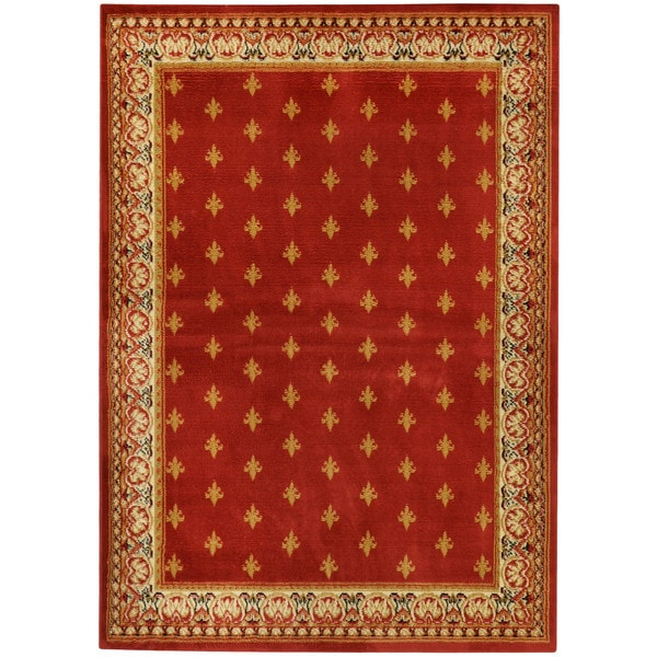 Ephesus Collection Red French Border Area Rug (3'3 x 4'7)