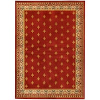Ephesus Collection Red French Border Area Rug - 8'2 x 9'10