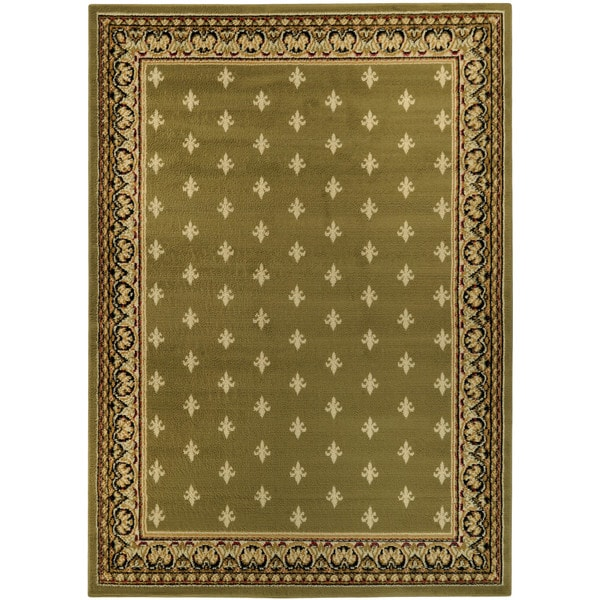 ephesus collection sage green french border area rug 4 39 10 x 6 39 10 free shipping today. Black Bedroom Furniture Sets. Home Design Ideas