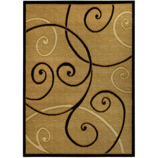 Ephesus Collection Ivory Tribal Filigree Contemporary Area Rug (3'3 x 4'7)
