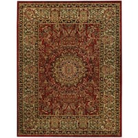Pasha Collection Medallion Traditional Red Area Rug (5'3 x 6'11) - 5'3 x 6'11