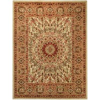 "Pasha Collection Medallion Traditional Ivory Area Rug (3'3 x 5') - 3'3"" x 5'"