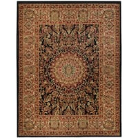 "Pasha Collection Medallion Traditional Black Area Rug (3'3 x 5') - 3'3"" x 5'"