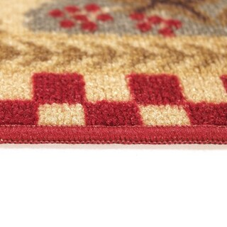 """Rooster Checkered Non-skid Kitchen Mat Rubber Back Rug (18"""" x 30"""") - 18 x 30"""