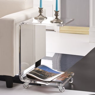 C Shape Acrylic Accent Table