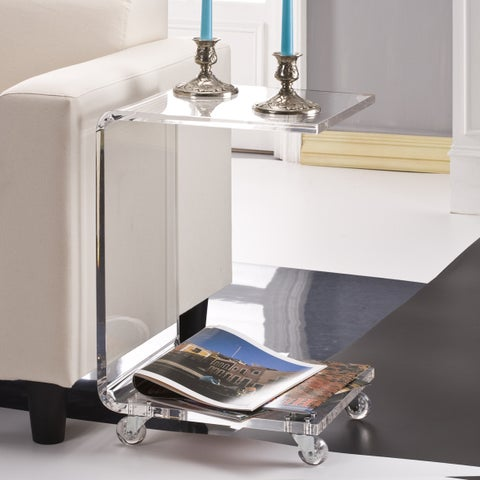 C Shape Acrylic Accent Table