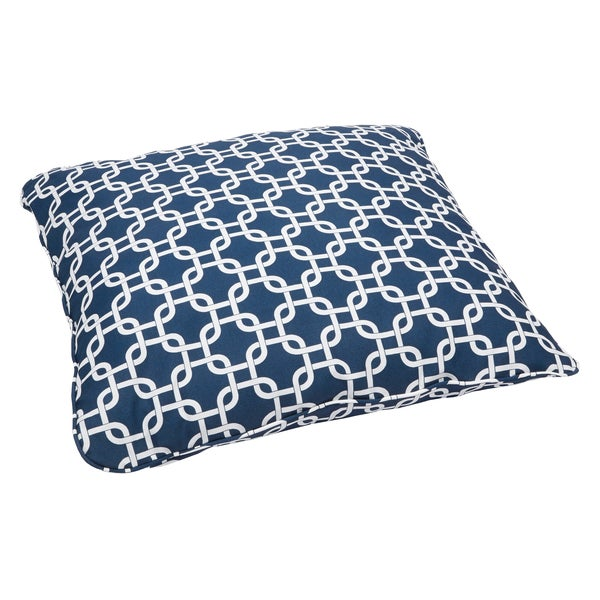 Knotted Navy Corded Outdoor/ Indoor Large 26-inch Floor Pillow