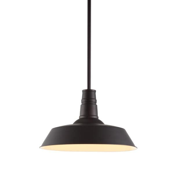 Tin 1-light Rust Ceiling Lamp