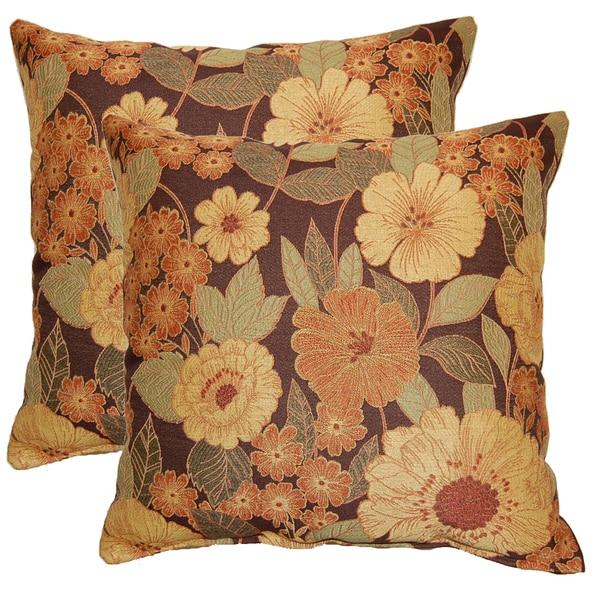 Garden Bounty Autumn 17-in Throw Pillows (Set of 2)