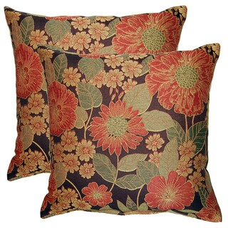 Garden Bounty Oriental 17-in Throw Pillows (Set of 2)