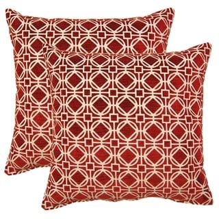 Ramses Cardinal 17-in Throw Pillows (Set of 2)