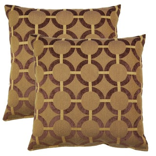 unbridled brown 19in throw pillows set of 2