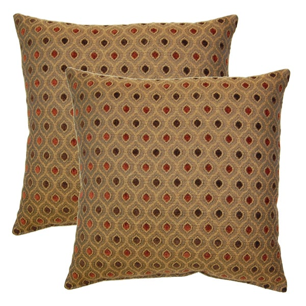 Glimpse Cayenne 17-in Throw Pillows (Set of 2)