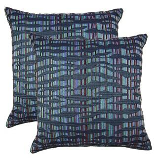 Islands Indigo 19-in Throw Pillows (Set of 2)