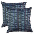 Islands Indigo 19-in Throw Pillows (Set of 2)