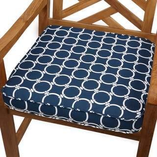 Links Navy 20-inch Indoor/ Outdoor Corded Chair Cushion