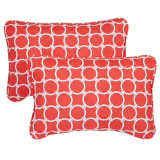 Links Coral Corded 13 x 20 inch Indoor/ Outdoor Throw Pillows (Set of 2)