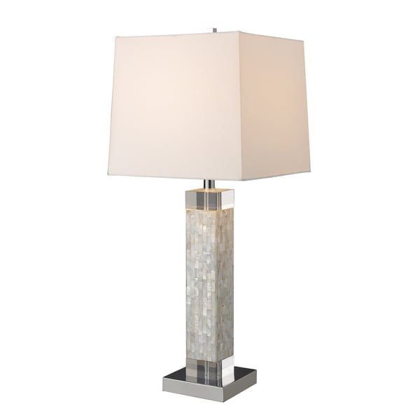 Dimond Lighting Luzerne 1-light Chrome/ Mother of Pearl Table Lamp
