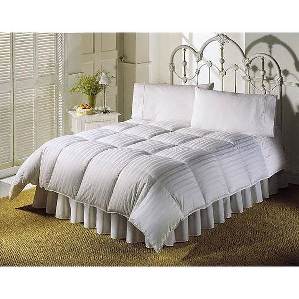 Shop 5 Star Hotel Luxury Stripe White Down Comforter