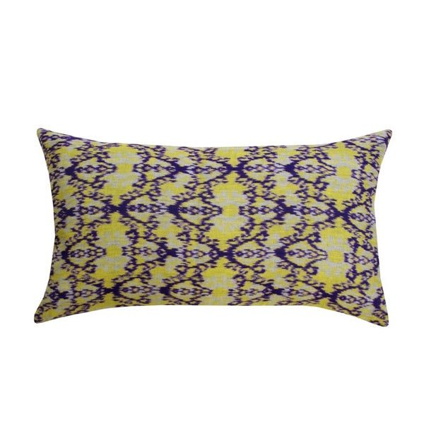 Handmade Ikat Throw Pillows : Handmade Lime Green Rani Ikat Accent Pillow (India) - Free Shipping Today - Overstock.com - 15770609