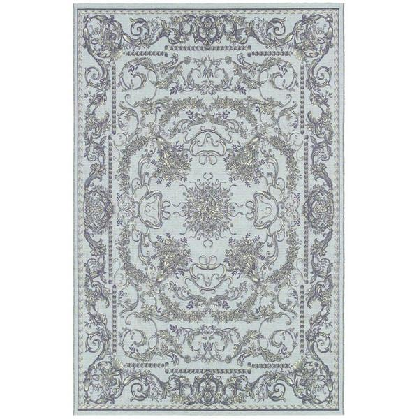 Dolce Messina Sky Blue-grey Indoor/Outdoor Area Rug - 8'1 x 11'2